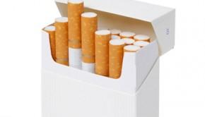 A plain cigarette packet