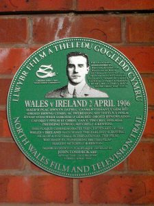 Wales Ireland 1906 plaque Wrexham