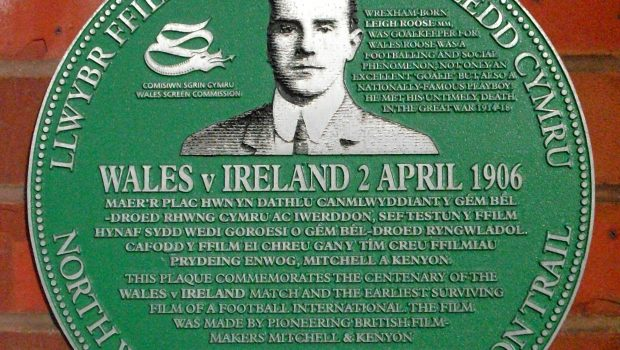 Wales Ireland 1906 plaque Wrexham