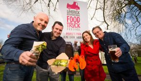 28/03/2017  Culinary explosion ahead for Limerick as EuropeÕs biggest food truck & craft beer festival confirmed for June Bank Holiday weekend 2017  Pictured in Limerick's People's Park at the launch of the Limerick International Food Truck and Craft Beer Festival are, from left, Stephen Cunneen, Treaty City Brewery, Darragh Ryan, Limerick City and County Council, Laura Ryan, Limerick City and County Council, and Mick Dolan, Dolan's Restaurant and Live Music Venue. Photo: Diarmuid Greene / True Media  Limerick is set to attract over 40,000 visitors to the city this June Bank Holiday weekend after landing the largest food truck festival in Europe. The Limerick International Food Truck Festival is the first dedicated event of its kind to take place in Ireland and will be based in the heart of Limerick cityÕs PeopleÕs Park from 1st-5th June 2017. The event will see an explosion of international cuisine with more than 60 food trucks from 14 countries taking part in the European Food Truck AssociationÕs annual festival along with local and national traders.