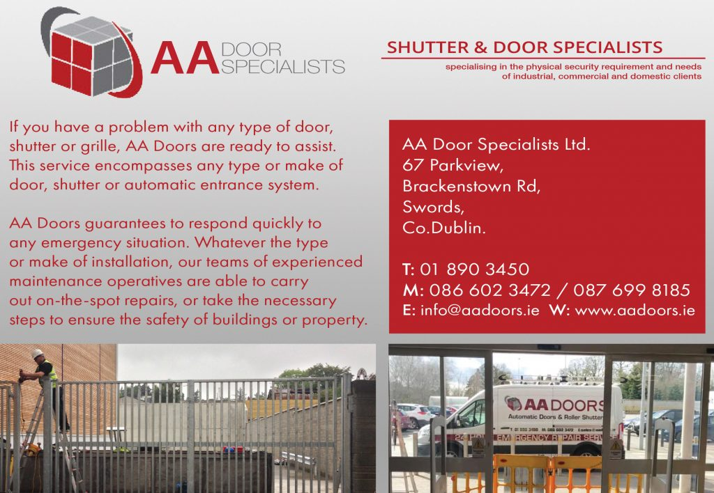 AA Door Specialists Ltd 188 X 130