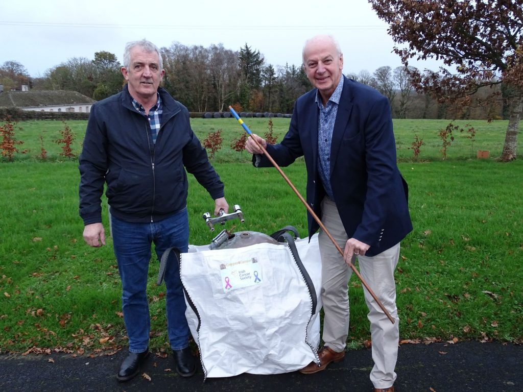 Tommy Hughes and Bobby Kerr launching Copper for Cancer
