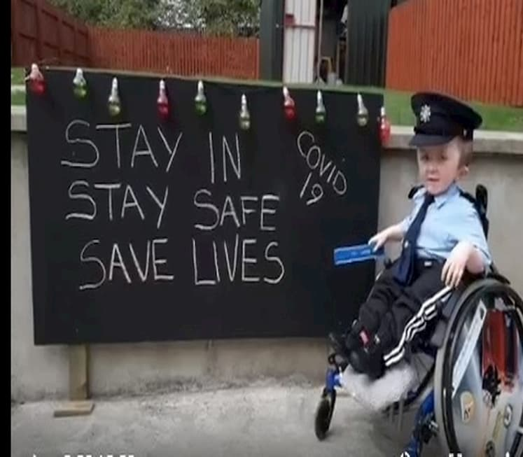 Donegal Boy Asks People to Stay in and Save Lives