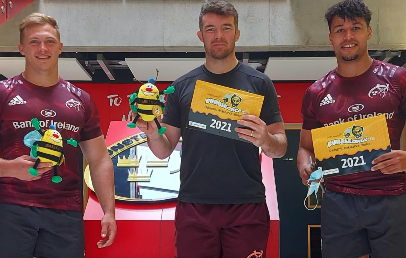 The #MUNSTERMACHINE, #BEE part of it, a new BUMBLEance Children's Ambulance Campaign supported by Munster Rugby